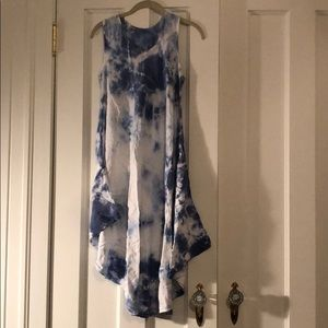 Dresses & Skirts - Blue and white tie dye dress, size S